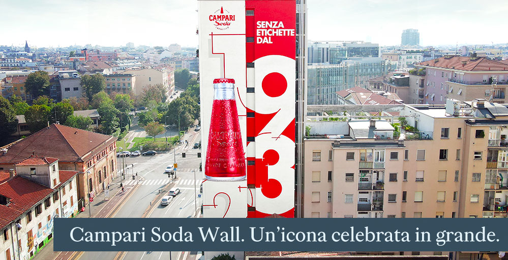 Campari Soda Wall. Un'icona celebrata in grande.