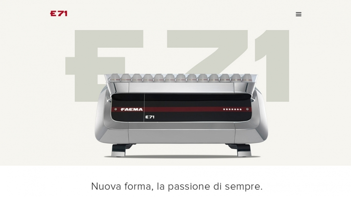 Faema E71. The best interpreter of master coffee.