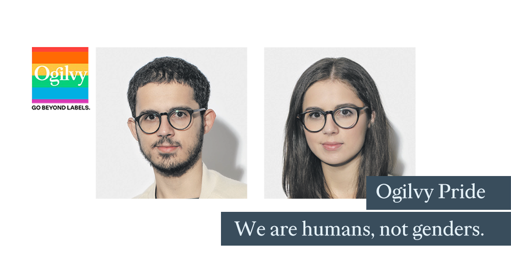 Ogilvy Pride. Humans, not genders.